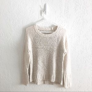 Abercrombie Cream Sequin Boucle Soft Sweater